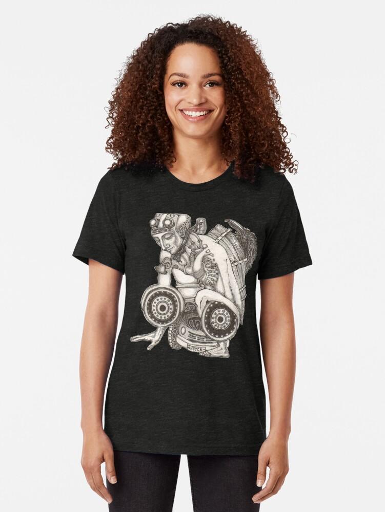 Alternate view of Automobile Heart & Soul Tri-blend T-Shirt