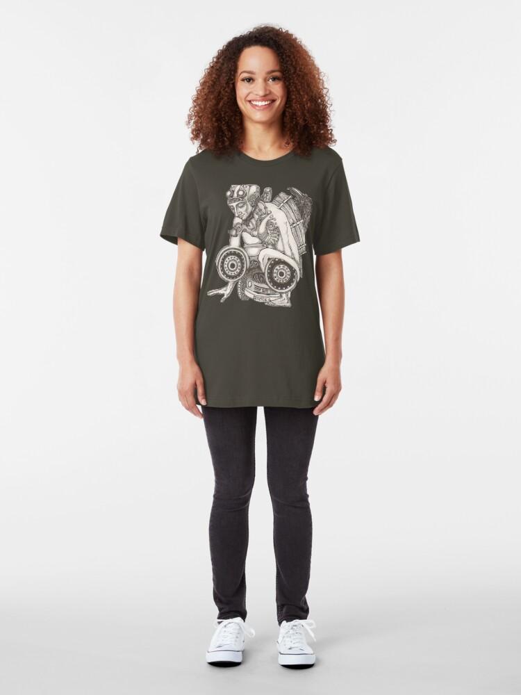 Alternate view of Automobile Heart & Soul Slim Fit T-Shirt
