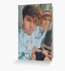 Kian and Jc Tie Dye Greeting Card