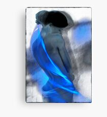 Wrapped in blues Canvas Print