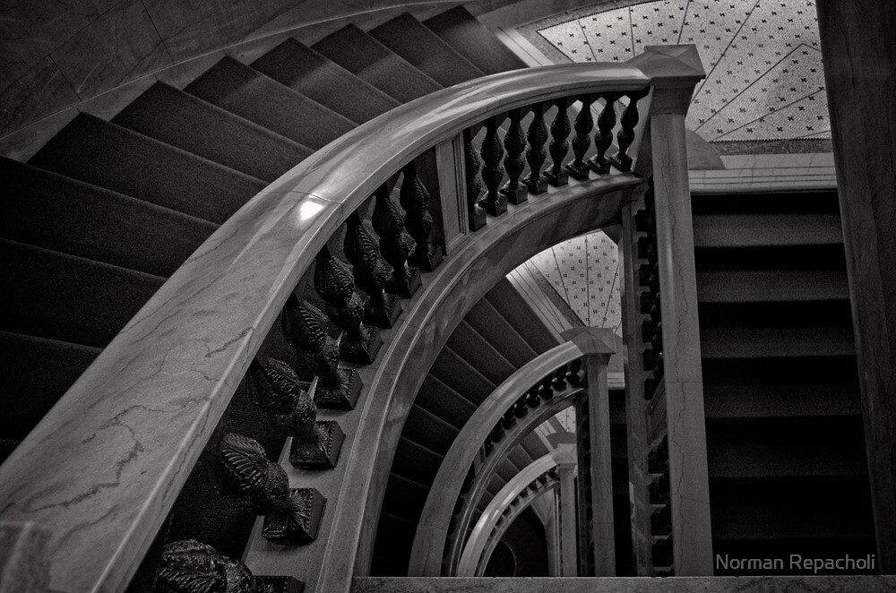 Cultural Staircase - Chicago by Norman Repacholi