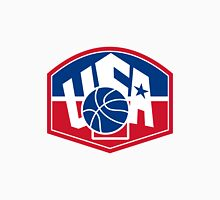 United States USA American Basketball Ball Shield Unisex T-Shirt