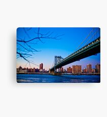 Thats how we across - Manhattan Bridge Canvas Print