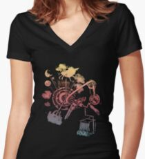 Science of Sleep 2 Women's Fitted V-Neck T-Shirt