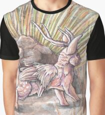 Desert Wolpertinger Graphic T-Shirt