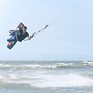 Kite Surfer at Jhunan Beach by Jeff Harris