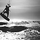 Silhouette of Kite Surfer by Jeff Harris
