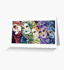 Rainbow masks  Greeting Card