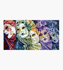 Rainbow masks  Photographic Print