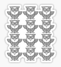 We're Not Pussy Cats We're Just  Black Owls  Sticker