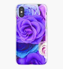 Colorful Roses Collage-Cool Tones iPhone Case