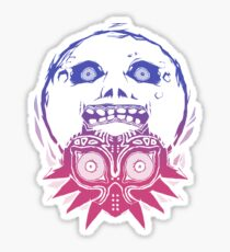 Majora's mask - Colour Gradient  Sticker