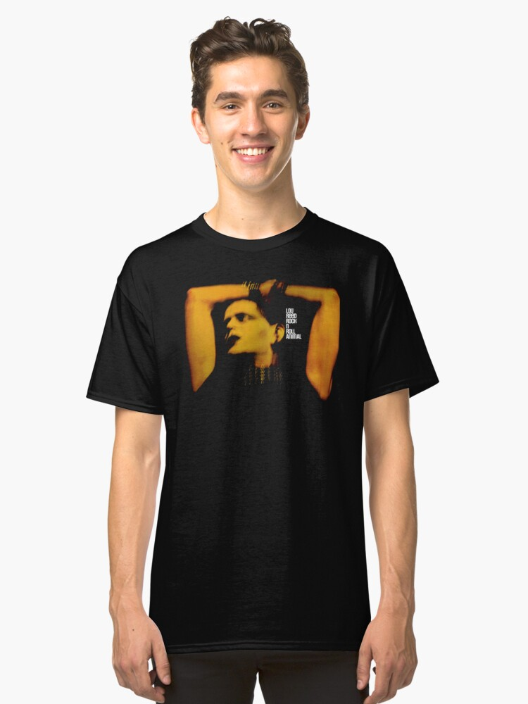 Lou Reed Rock N Roll Animal Classic T-Shirt Front