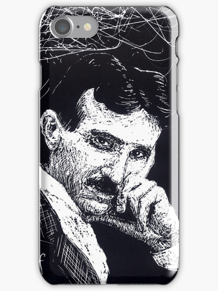 Tesla iphone case by Donna Raymond