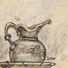 Sketch of Bowl and Pitcher by Donna Ridgway