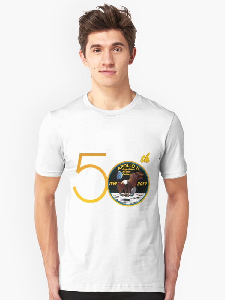 Apollo 11: 50th Anniversary Patch Unisex T-Shirt Front