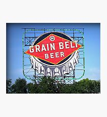 Iconic Grain Belt Bottle Cap Photographic Print