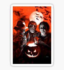 Super Villains Halloween Sticker