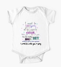 One Direction - I Want To Write You A Song One Piece - Short Sleeve
