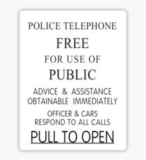 Police Telephone Box Sticker