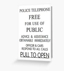 Police Telephone Box Greeting Card