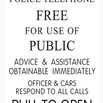 Police Telephone Box by pepsiandnutella