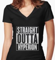 Straight Outta Hyperion Women's Fitted V-Neck T-Shirt