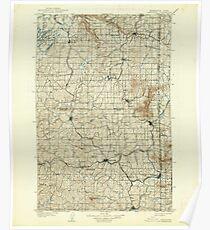 USGS Topo Map Washington State WA Oakesdale 242891 1905 125000 Poster