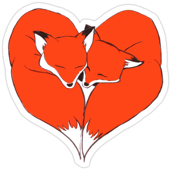 Foxes Mate for Life by WeileAsh