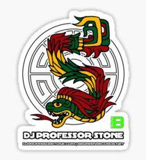 DJ Professor Stone - July 2012 Merch ver 777 white circle white text Sticker