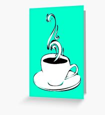 coffee curls Greeting Card