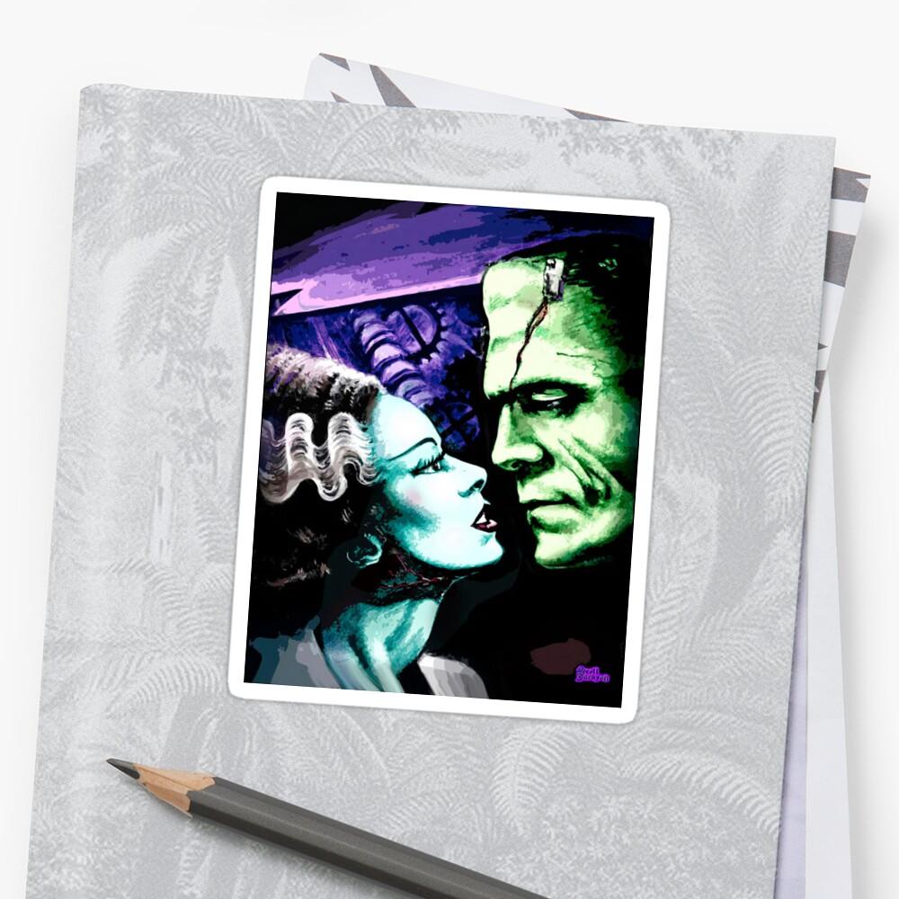 Bride & Frankie Monsters in Love Sticker