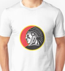 Native American Indian Chief Side Unisex T-Shirt