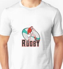 rugby player charging Unisex T-Shirt