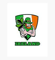 Irish leprechaun rugby player Photographic Print
