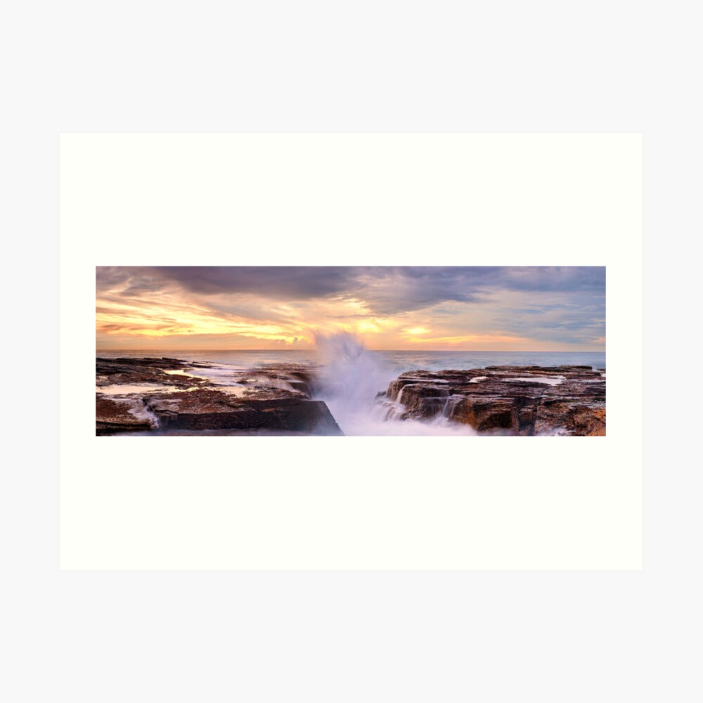 Narrabeen Rocks, New South Wales, Australia Art Print