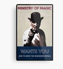 Ministry of Magic Wants You Metal Print