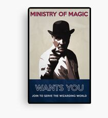 Ministry of Magic Wants You Canvas Print