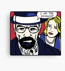 I Am the Danger Lichtenstein Canvas Print
