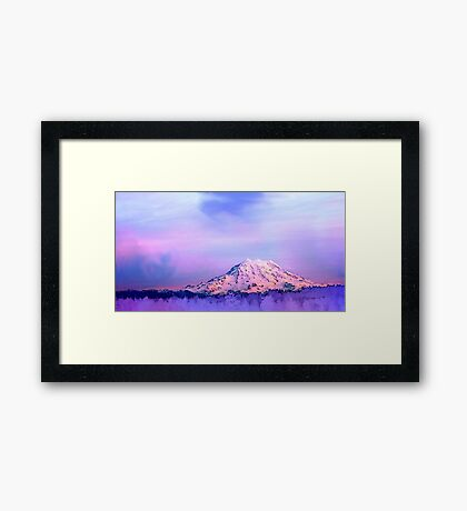Vivid Mountain Sunset Framed Print