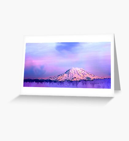 Vivid Mountain Sunset Greeting Card