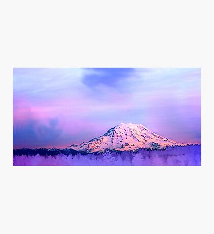 Vivid Mountain Sunset Photographic Print