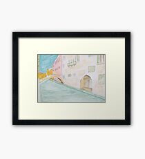 Street Canal Bridge. Framed Print