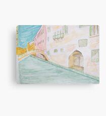 Street Canal Bridge. Canvas Print