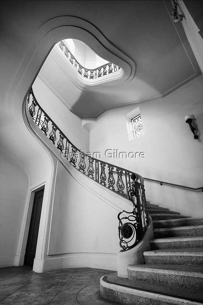 Stairwell (Black & White) by Graham Gilmore