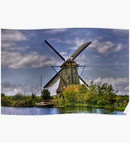 Going Dutch - Les moulins de Kinderdijk  (Enlarge) Poster