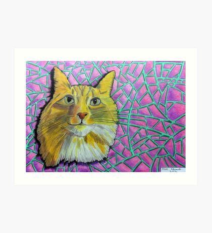 355 - SMUG MITCH - DAVE EDWARDS - COLOURED PENCILS & INK - 2012 Art Print