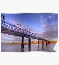 Into Infinity - Motor Bridge at Murray Bridge, South Australia Poster