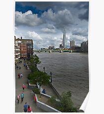 Shard and Thames waterfront Poster