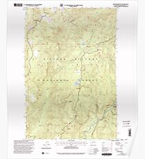 USGS Topo Map Washington State WA Spencer Butte 243894 1998 24000 Poster